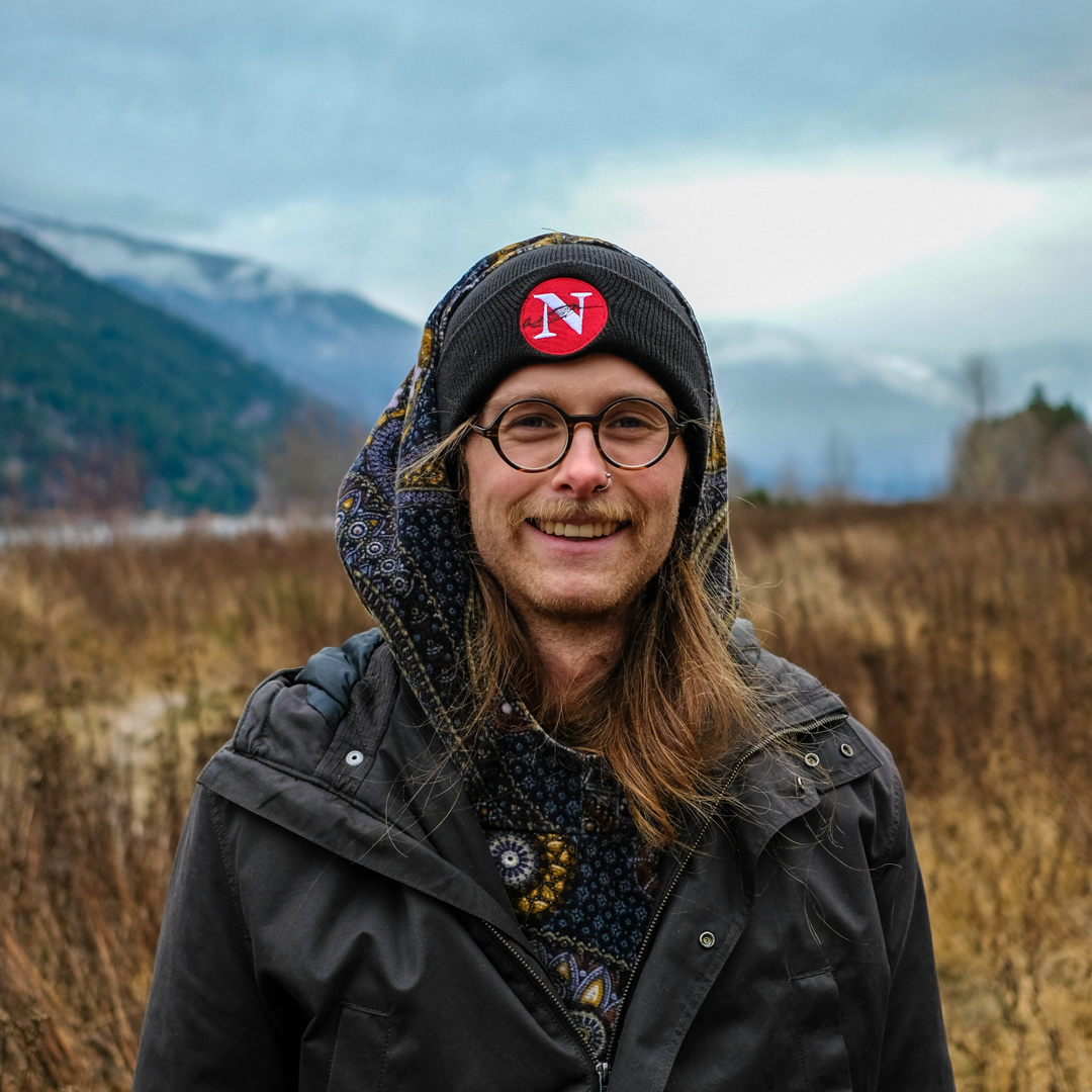 Photographer Mike Graeme wearing a Narwhal toque