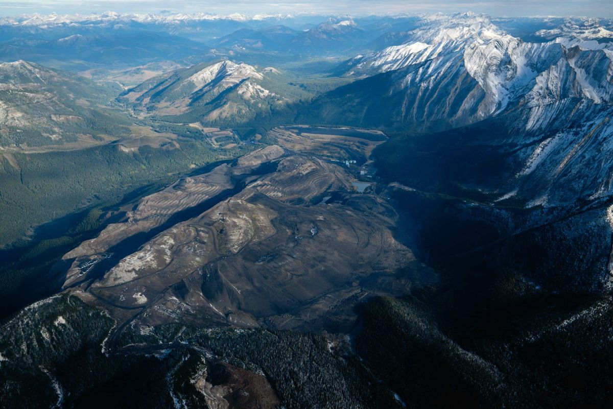 aerial view of teck coal mine