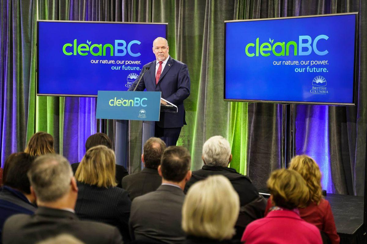 John Horgan announces CleanBC plan in 2018