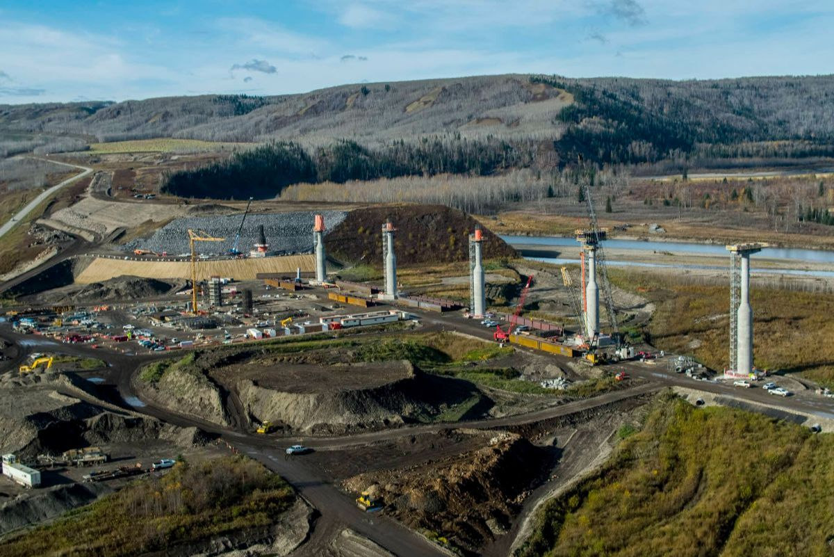 Site C construction