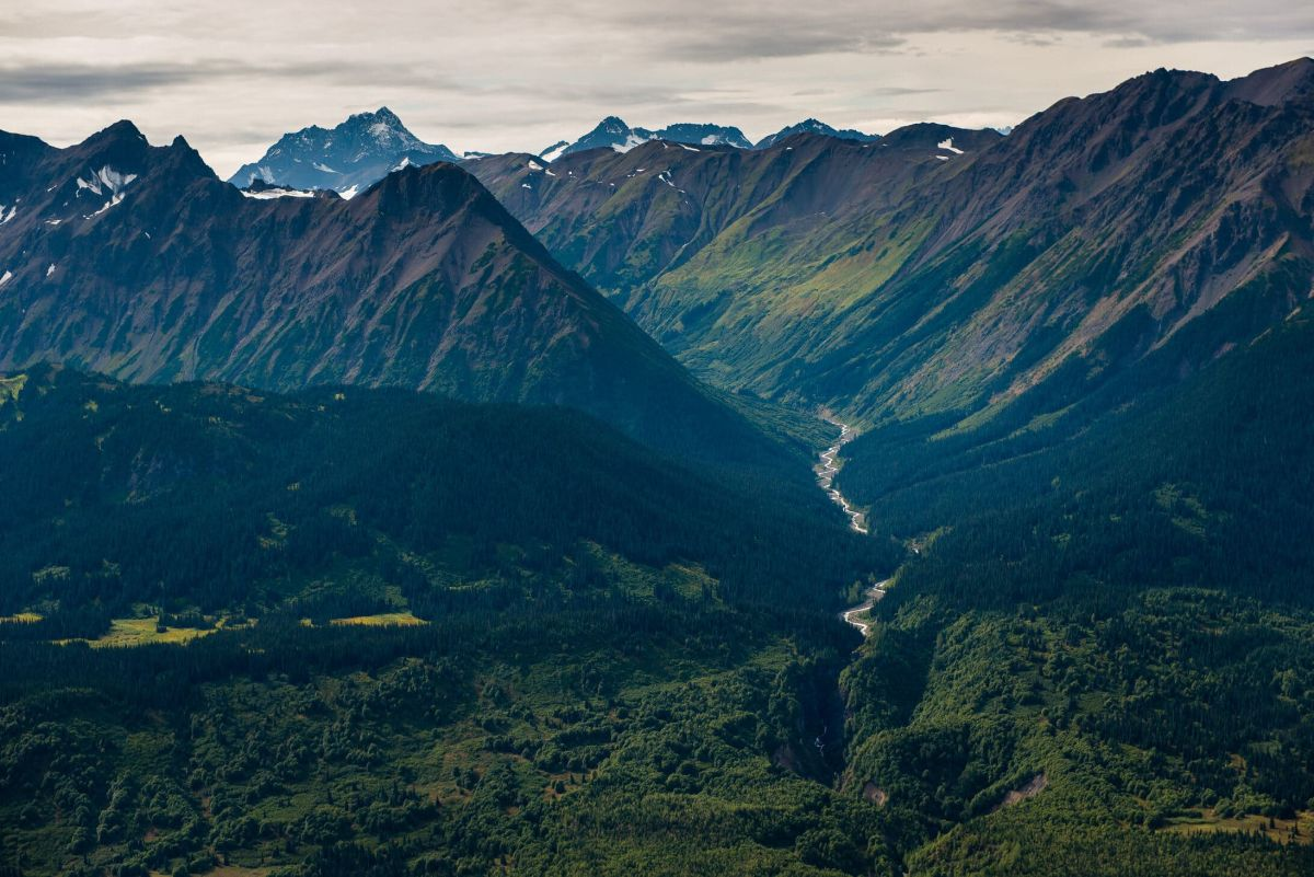 Iskut River snakes between mountains in northwest B.C.