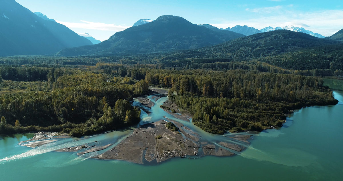 Meziadin Lake: the glacial-fed creek systems that feed into the lake support the last healthy sockeye populations.