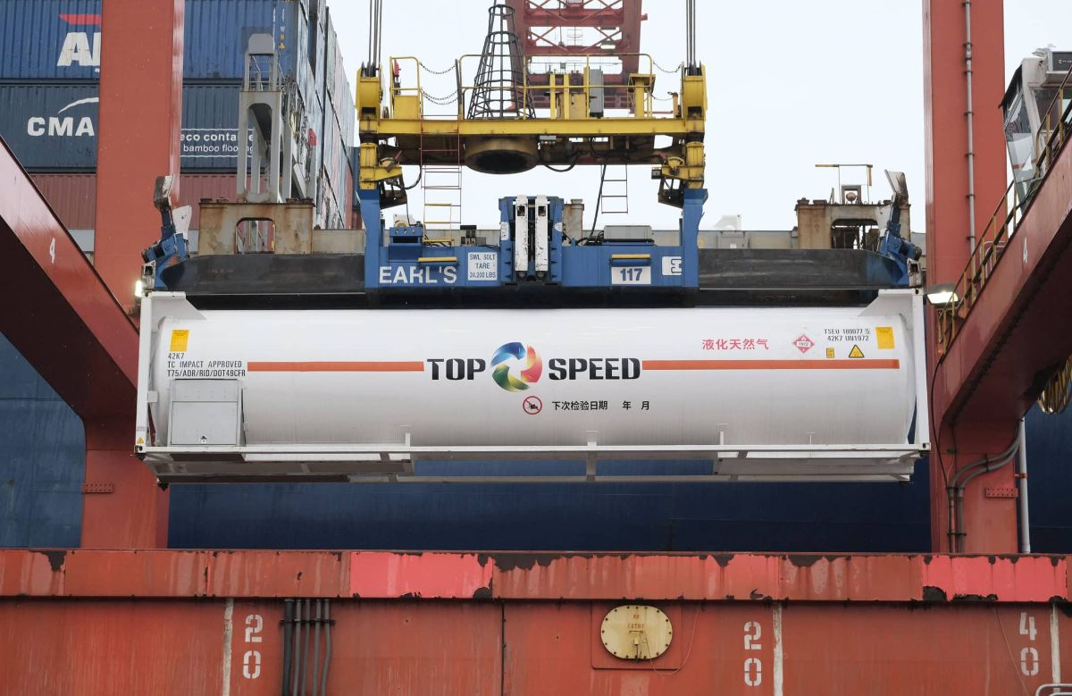 Top Speed Energy LNG container