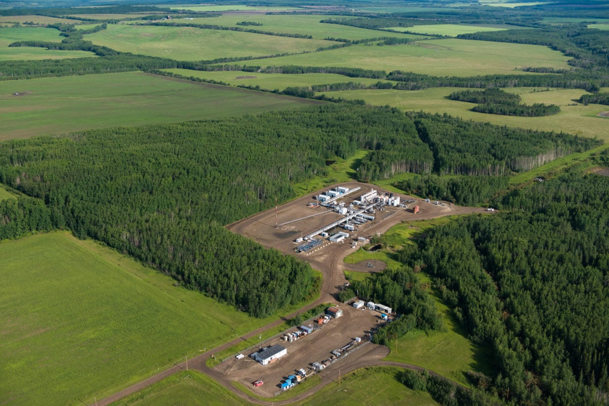 Gas operations in Blueberry River First Nations territory
