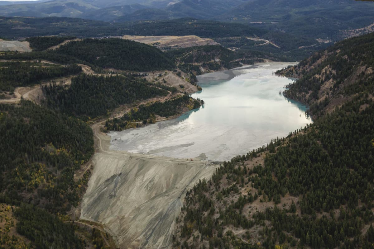 The Copper Mountain tailings pond