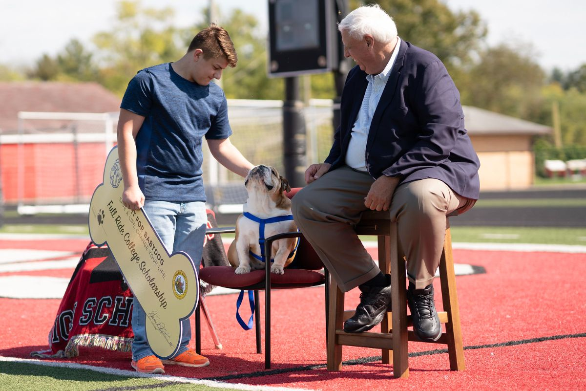 Do it for Babydog Round 2: Gov. Justice surprises three West Virginia students with full-ride college scholarships