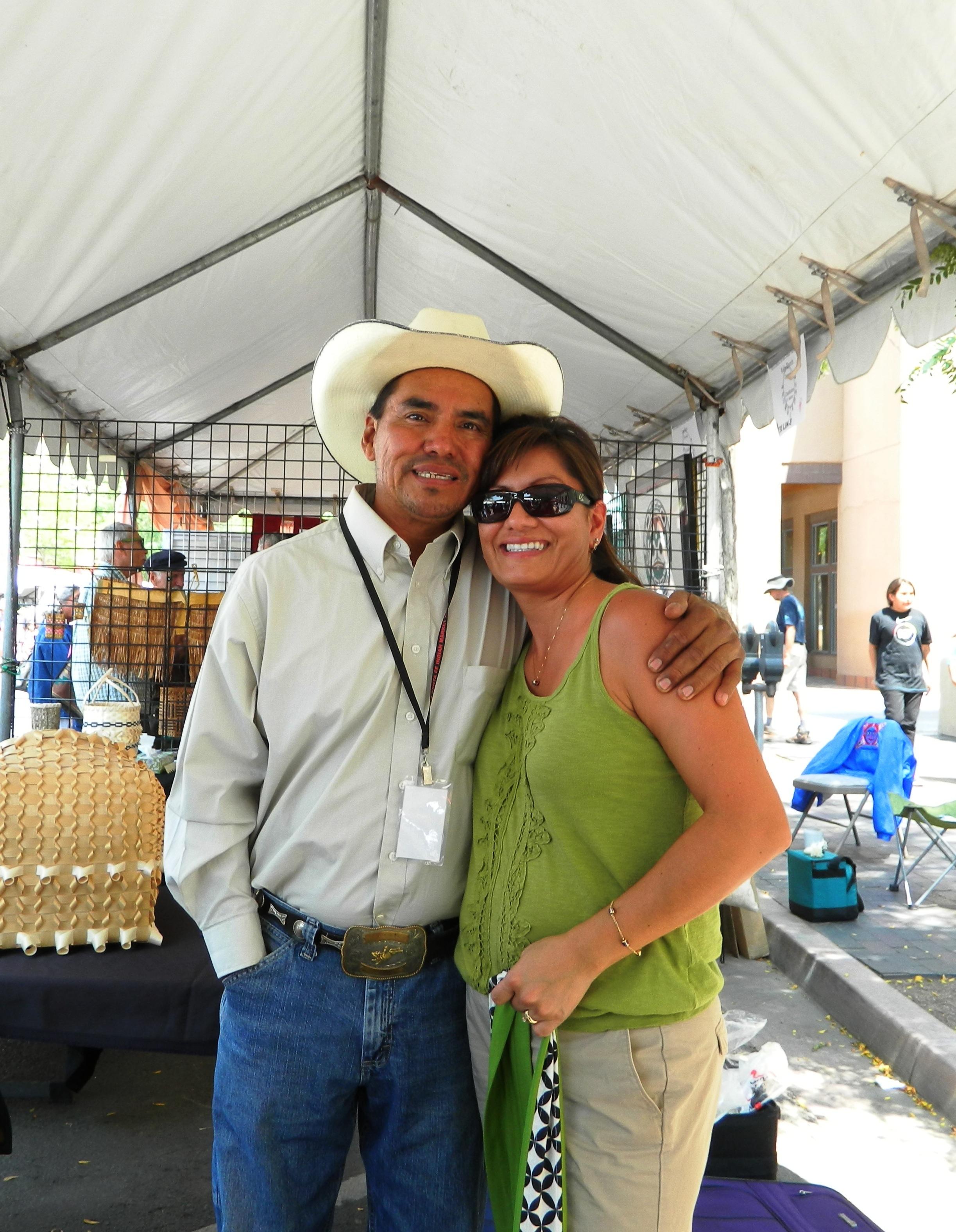 Ira & his sister, Mechel at SWAIA circa 2014