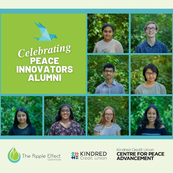 Headshots of all 8 Peace Innovators alumni from the 2021 cohort.