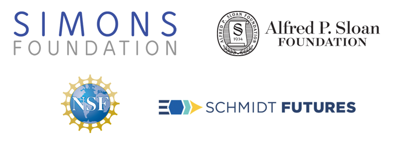 Simons Foundation · Alfred P. Sloan Foundation · National Science Foundation · Schmidt Futures