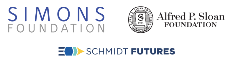 Simons Foundation · Alfred P. Sloan Foundation · Schmidt Futures