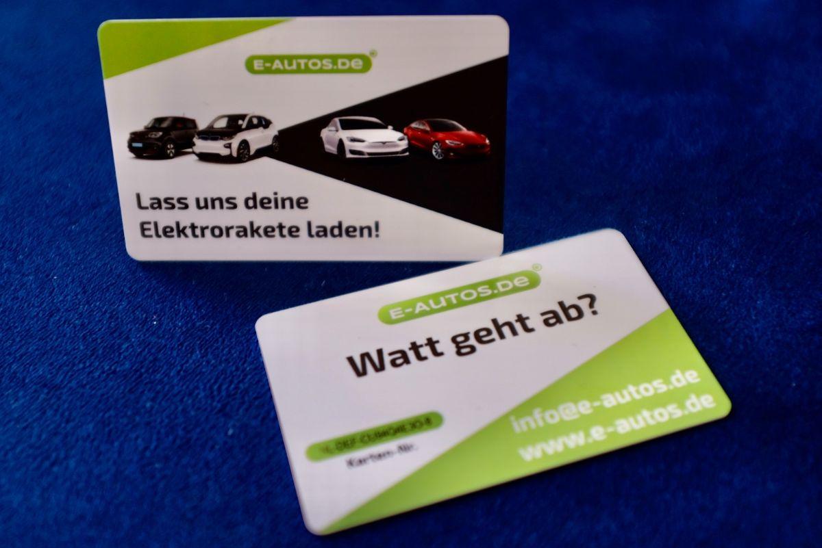 Ladekarte für öffentliches Laden von E-Autos