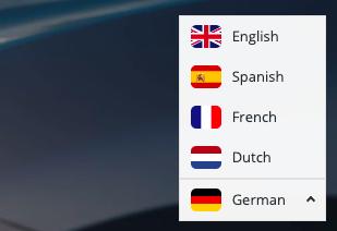 Neue Übersicht an Sprachen im E-Autos.de Online Shop