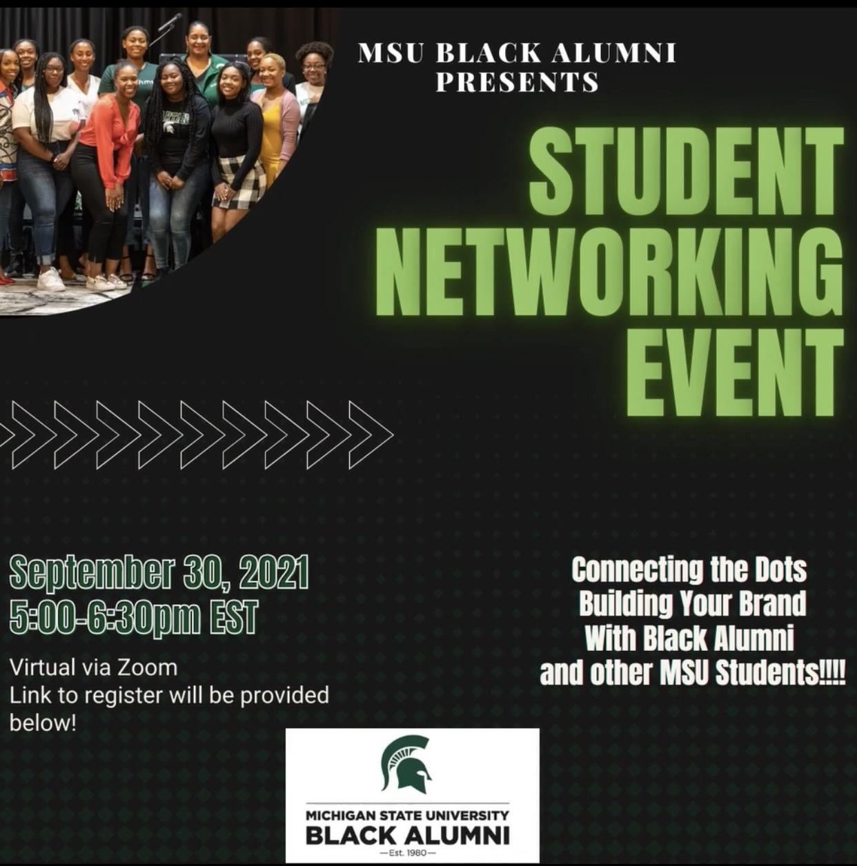 MSU Black Alumni: Student Networking Event @ ZOOM