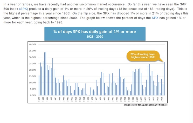 SPX Daily Gain Chart