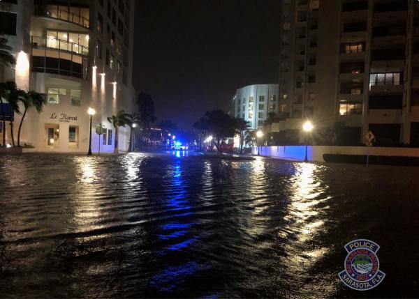 Tropical Storm Eta hits Sarasota November 2020 - Photo Sarasota PD