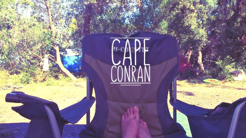 My dirty feet resting at Cape Conran campsite