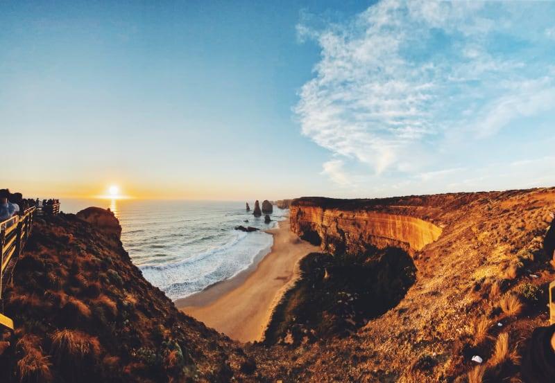 beach shot at sunset