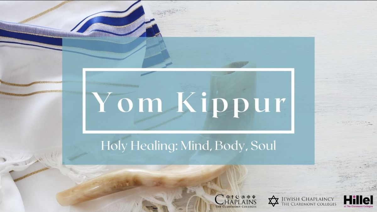 Yom Kippur. Image of horn and scarf.
