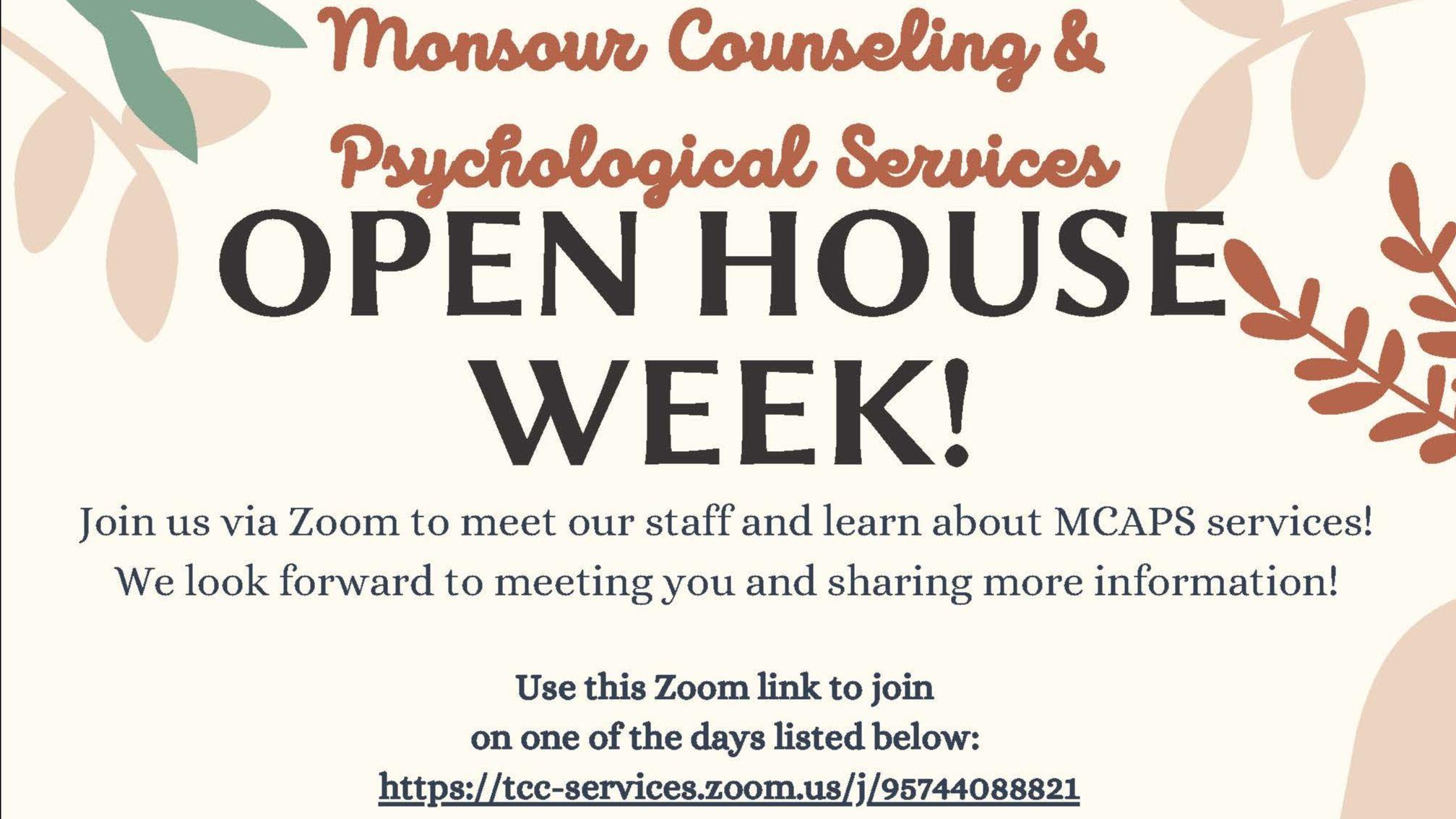 MCAPS Open House Week!