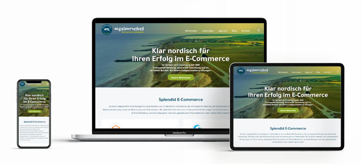 Neue Website von Splendid Internet