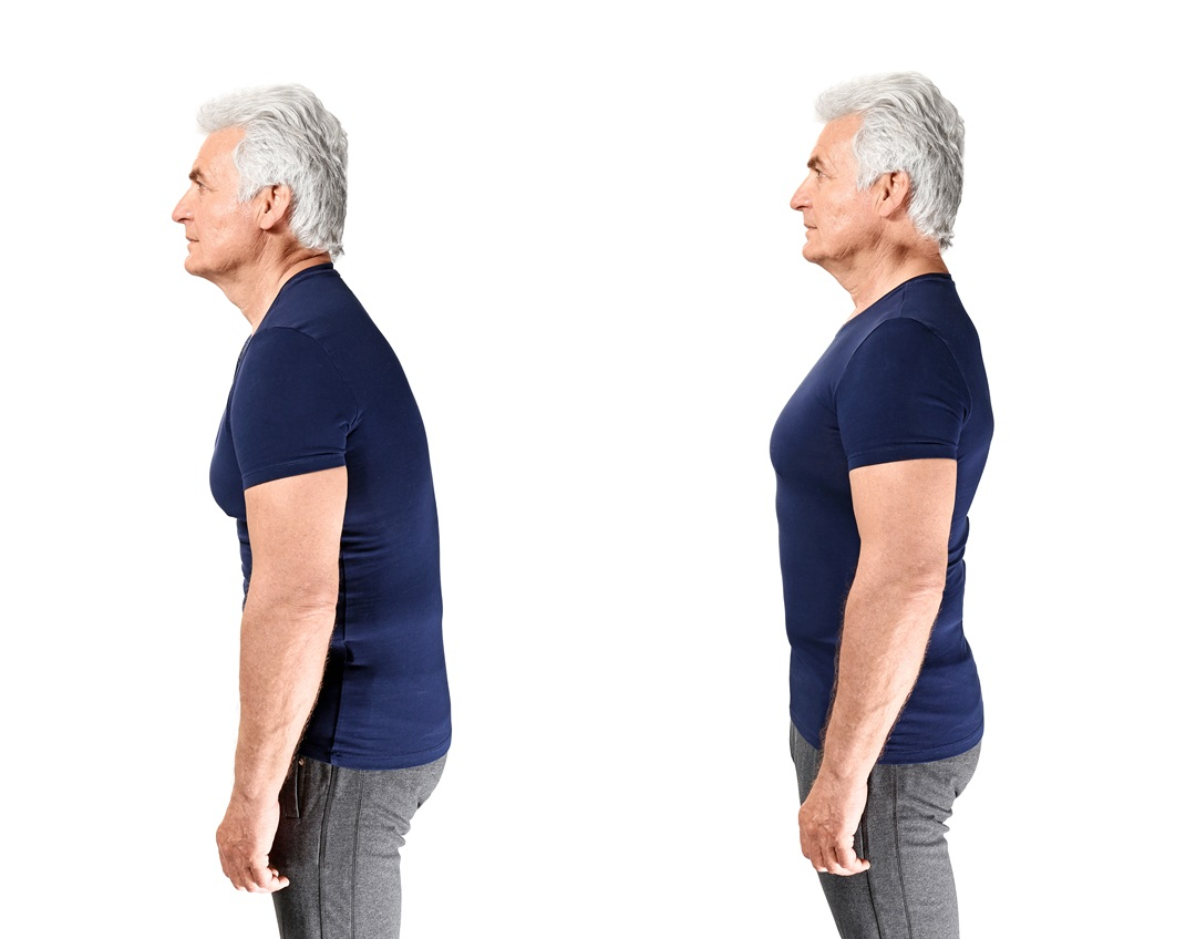 Poor posture & good posture