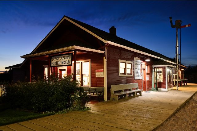 Black Diamond Railroad Depot after paint project. c) 2019 Black Diamond Historical Society.