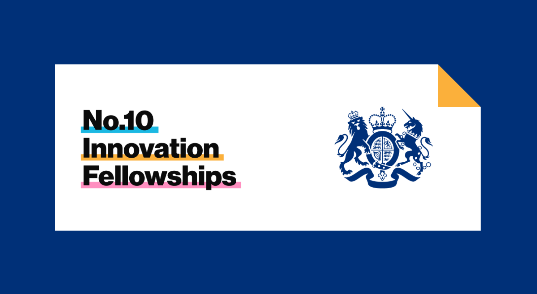 This is an image with the crown logo that says No.10 Innovation Fellowships