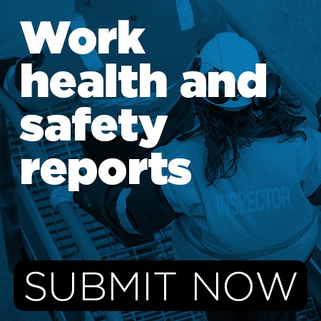 Work health and safety reports can now be submitted online