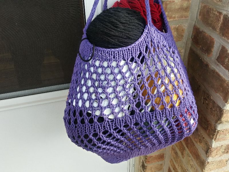 Market and Beach Tote - Grape Cotton