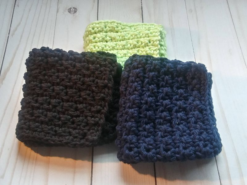 Set of 3 - Textured Wash Cloths
