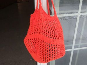 Market and Beach Tote in 100% Cotton - Orange