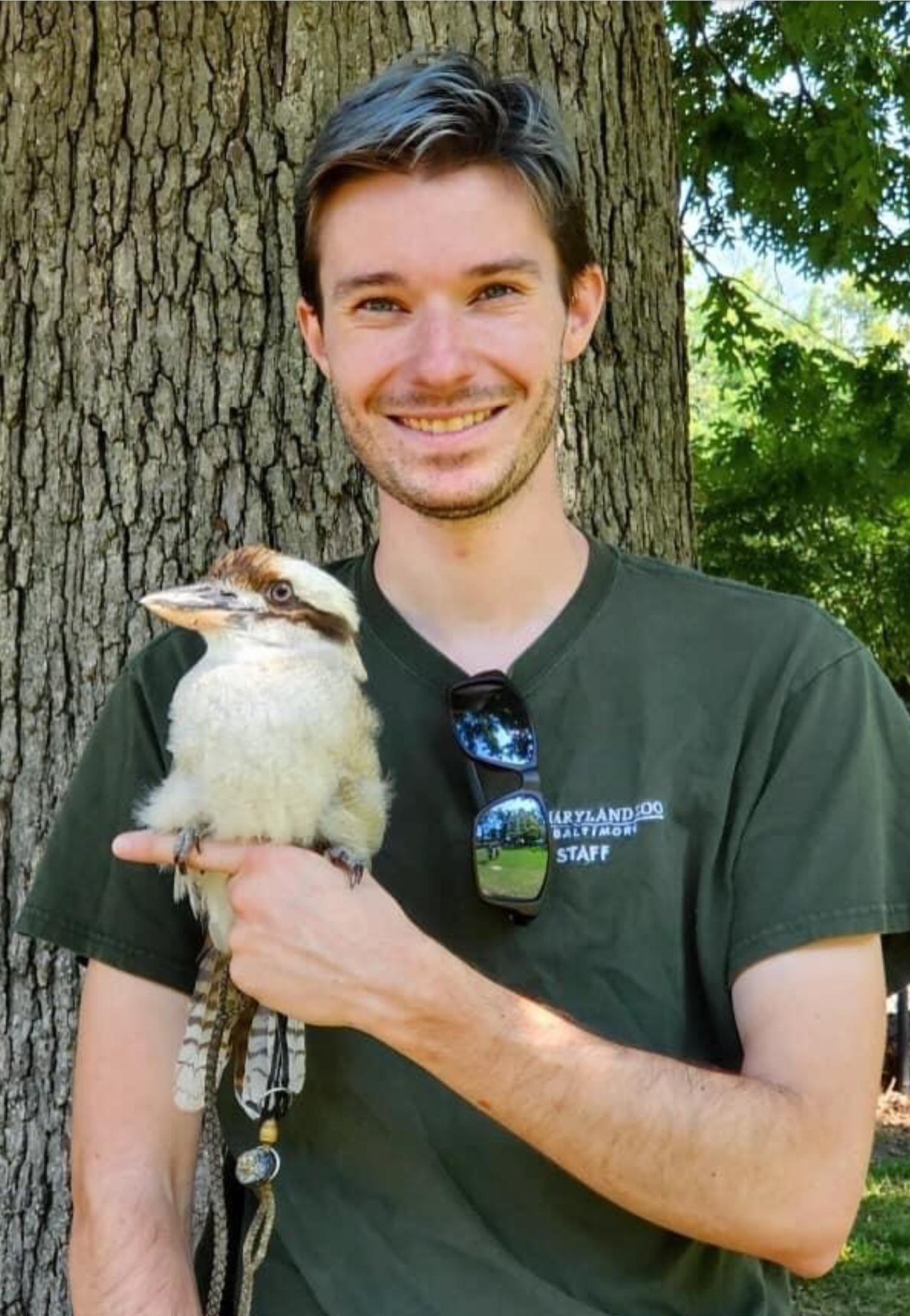 Mike Hudson holding a Kookabura.