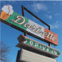 Dari-ette Drive-in sign