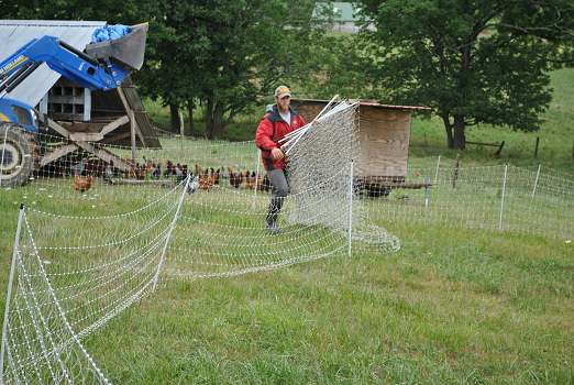 Moving Electric Fence - Polyface Farm