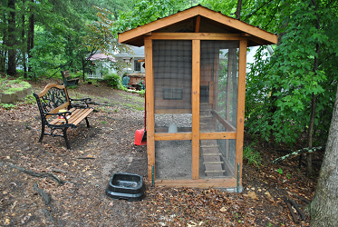 Stationary Chicken Coop Front