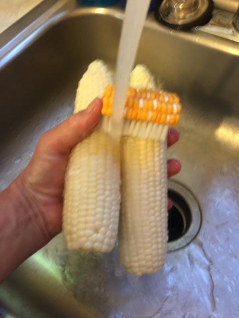 Rinsing Corn