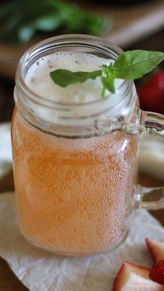 Strawberry Basil Kombucha