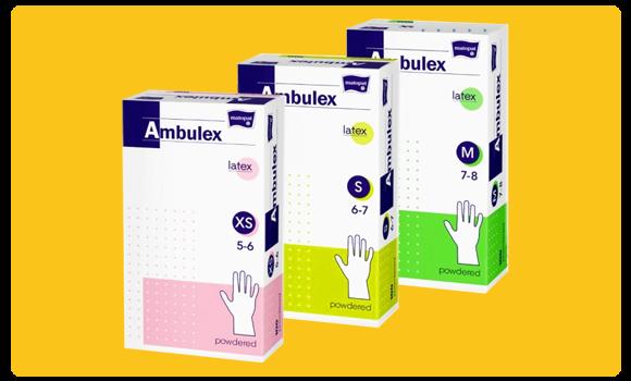 Ambulex eldobható gumikesztyű