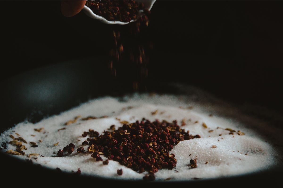 Sichuan pepper and salt