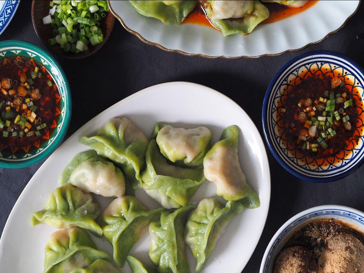 Three umami dumplings
