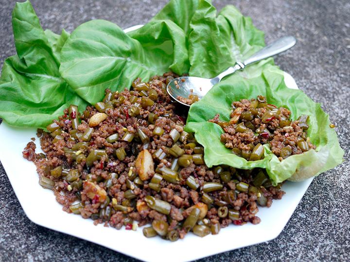 Pork and pickled green bean stir-fry