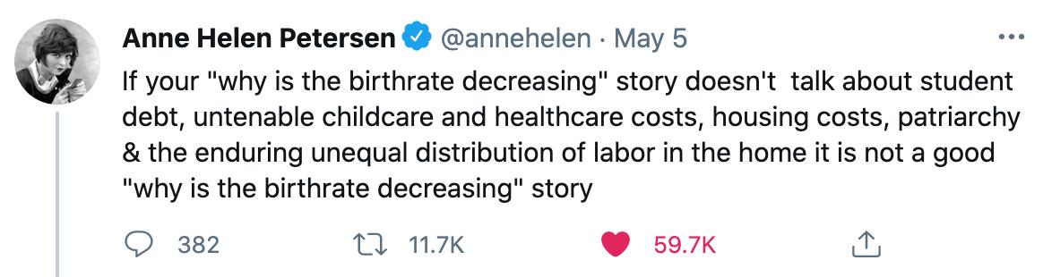 Tweet by Anne Helen Petersen