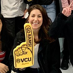 Ashley Cox, alumna of the VCU School of Education's Master of Teaching program.