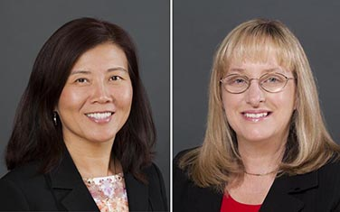 From left: Dr. Yaoying Xu, Dr. Joan Rhodes
