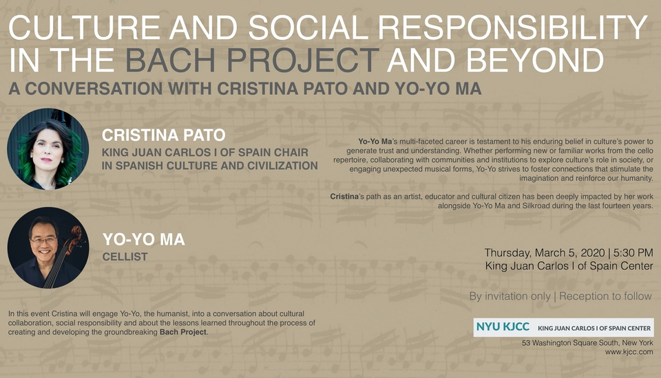 Culture and Social Responsibility in the Bach Project and Beyond - A Conversation with Cristina Pato and Yo-Yo Ma