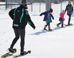 Snowshoeing fun at  Family Day.