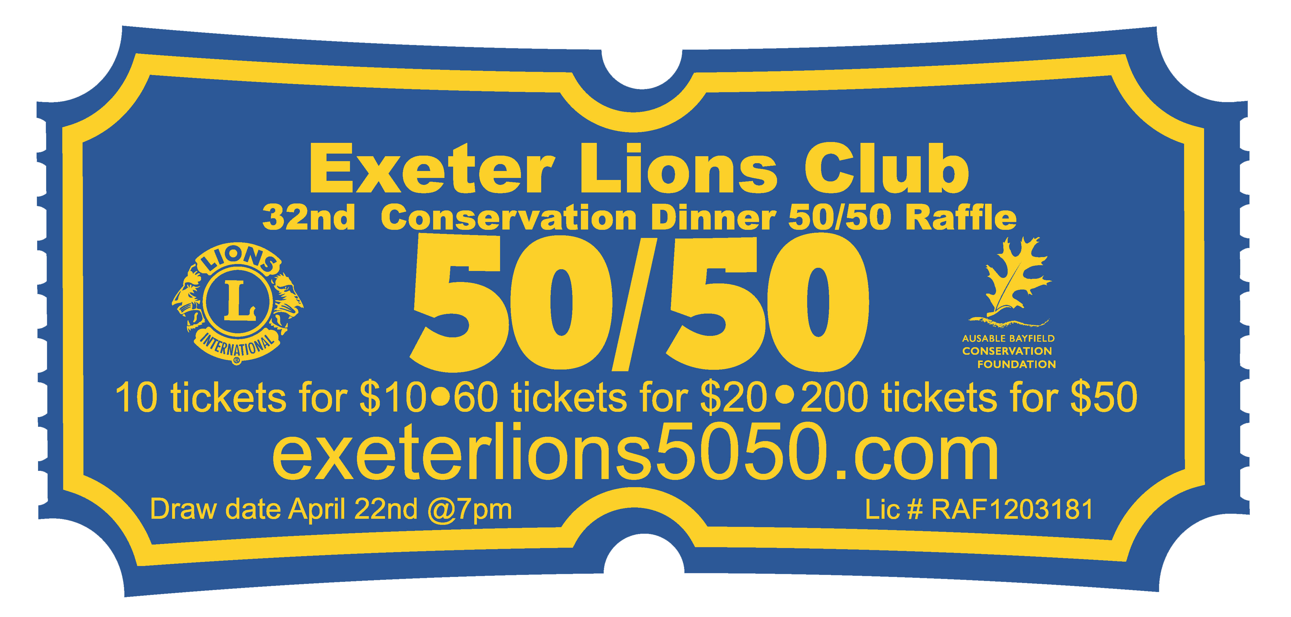 Support your community, get your 50-50 Raffle Draw ticket online.