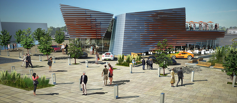 Rendering of the M1 Event Center