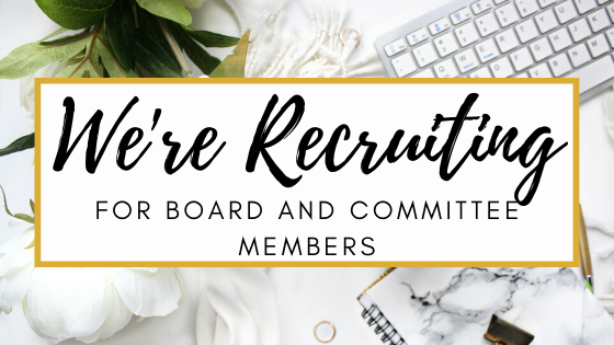 We're recruiting for board and committee members
