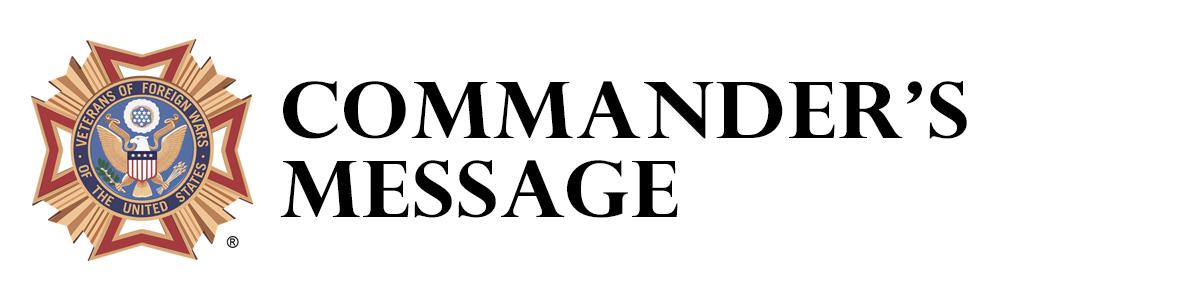 Commander's Message